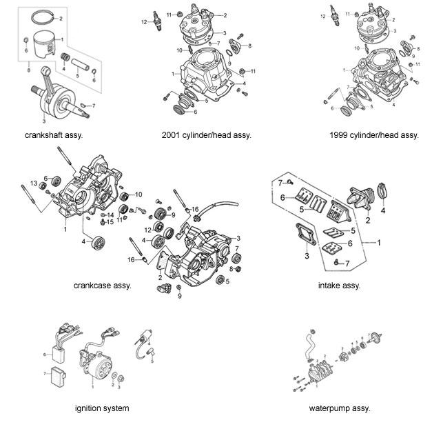 Honda CR125 parts – Msquared Karting