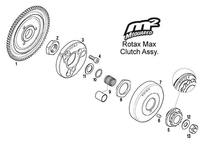 Rotax Max FR125 clutch assembly – Msquared Karting